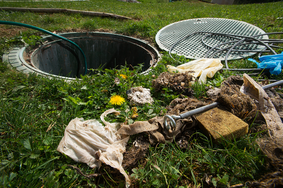 unclogging the septic system